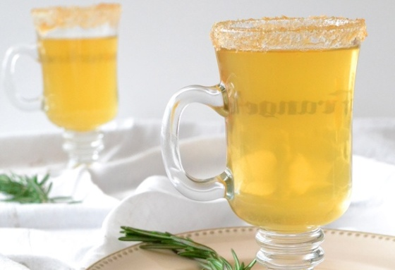 Hot Apple Cider with Rosemary...it doesn't get cozier than this!